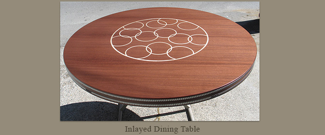 Inlayed dining table